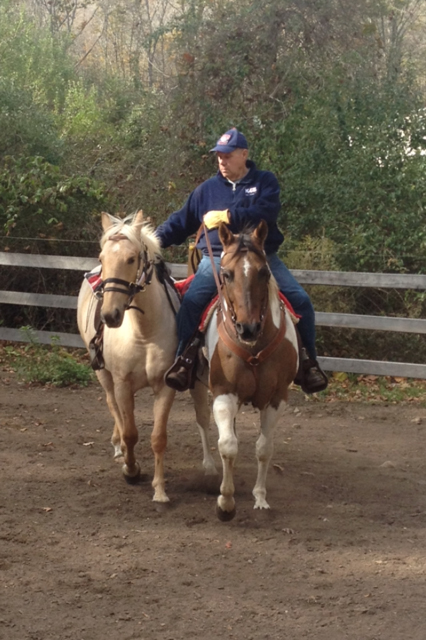 Charm (Left) being ponied by Cutter (Right) and Paul