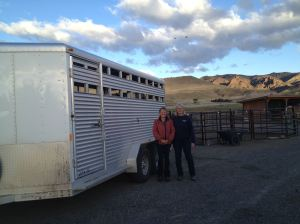 Tricia & Michaele after a successful loading